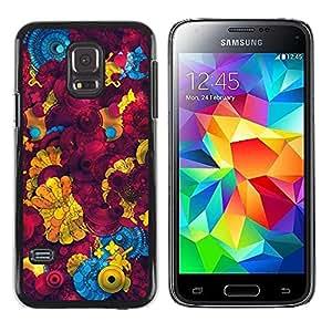 """Pulsar Snap-on Series Teléfono Carcasa Funda Case Caso para Samsung Galaxy S5 Mini ( NOT for regular S5 ) , Amarillo abstracto 3D Patrón"""""""