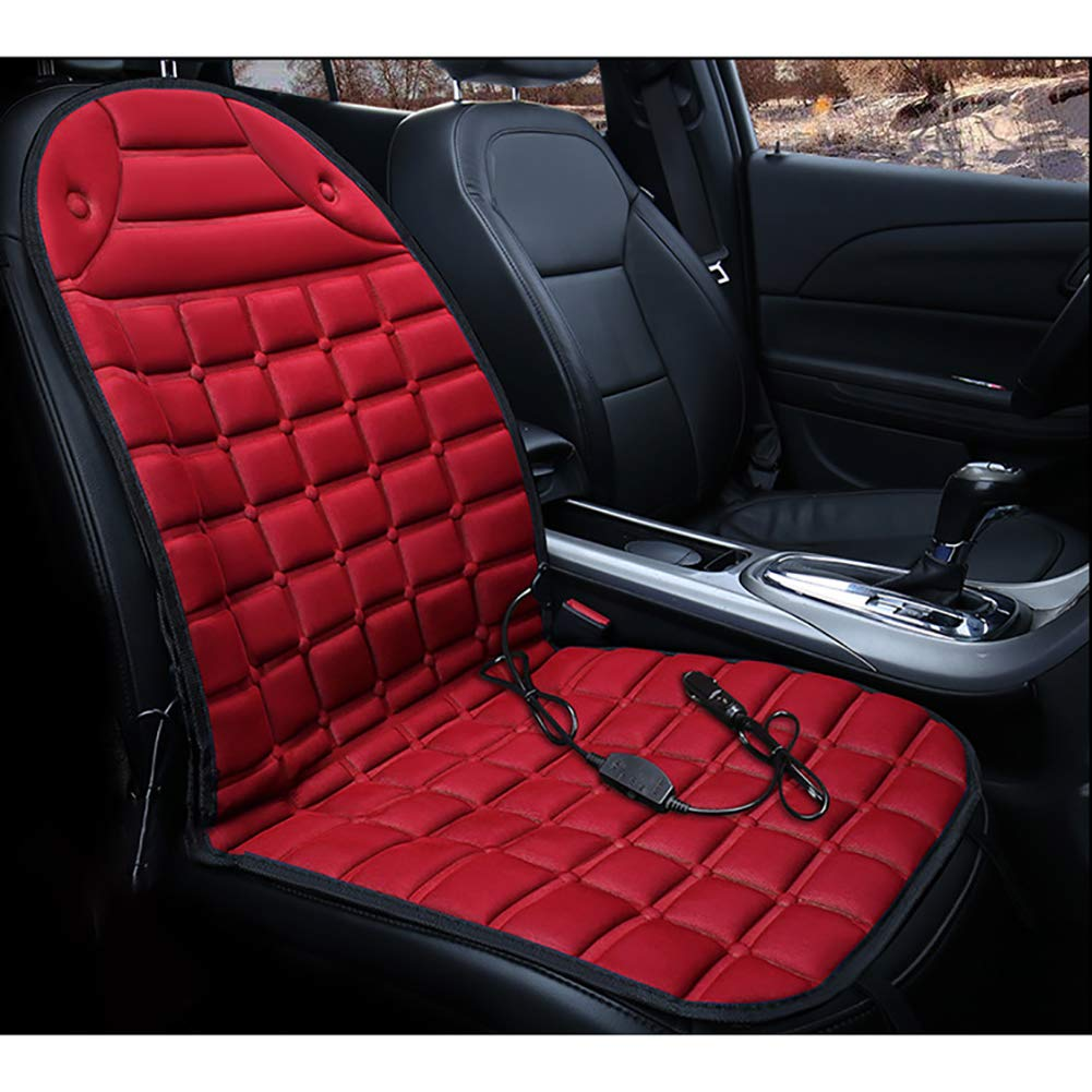 FJW Car Seat Heating Pad 12V Constant Temperature Heating With Temperature Controller Heated Seat Cushion, Blue [Energy Class A]