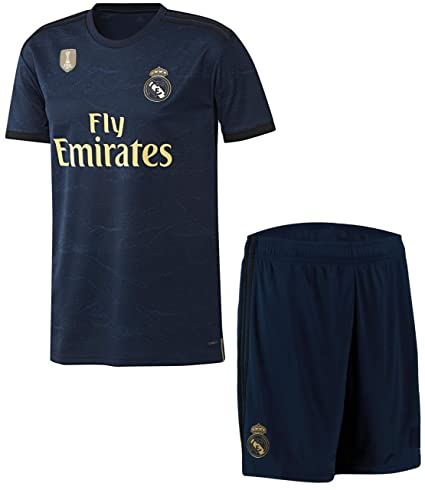 reputable site ef654 43594 GOLDEN FASHION Non Real Madrid Away KIT 2019-20 Jersey with Short and with  Champion Badge ON Jersey