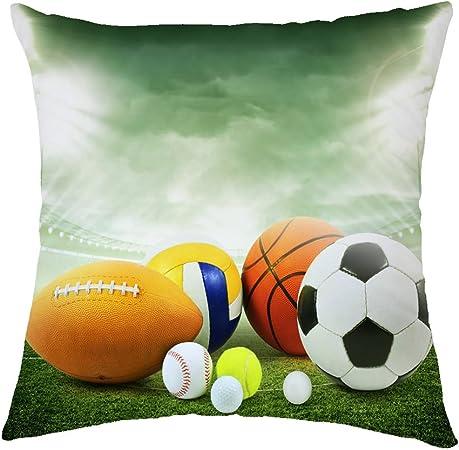 Pillow Covers Rosy Nubes Rugby diseño de balón de Baloncesto ...