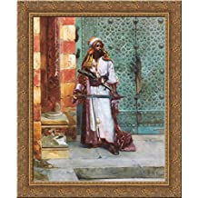 Standing Guard 20x23 Gold Ornate Wood Framed Canvas Art by Ernst, Rudolf