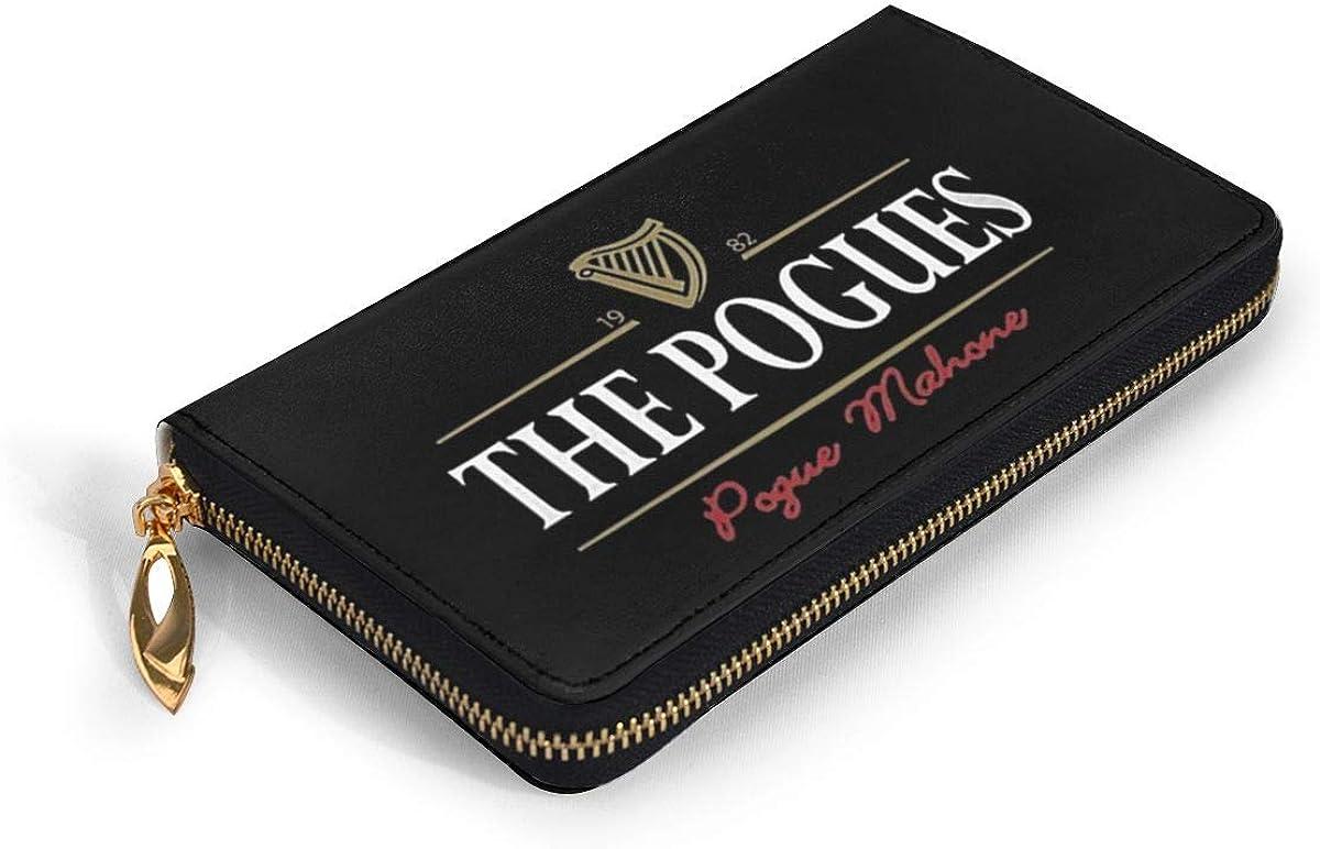 Belindaa The-Pogues-Generic Leather Long Wallet Card Holder Clutch Bag Purse Zip Handbags Womens