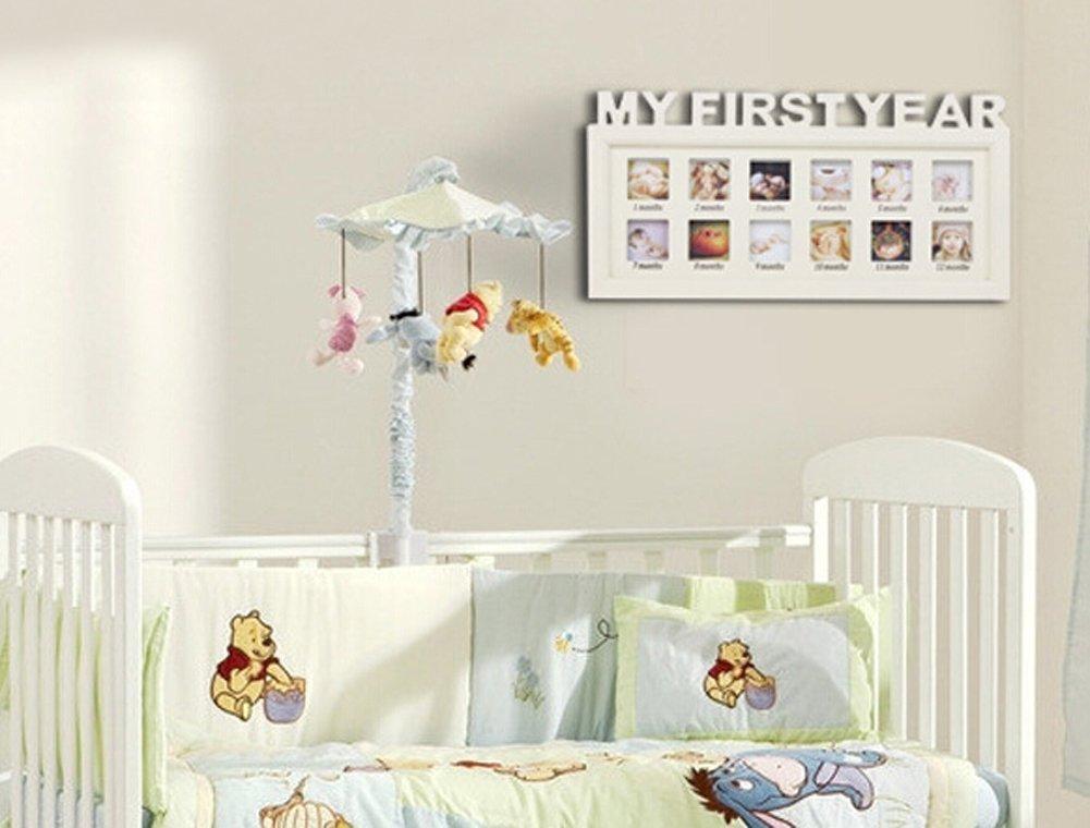 Baby Bilderrahmen, Holz, My First Year Geburtstag Infant Baby ...