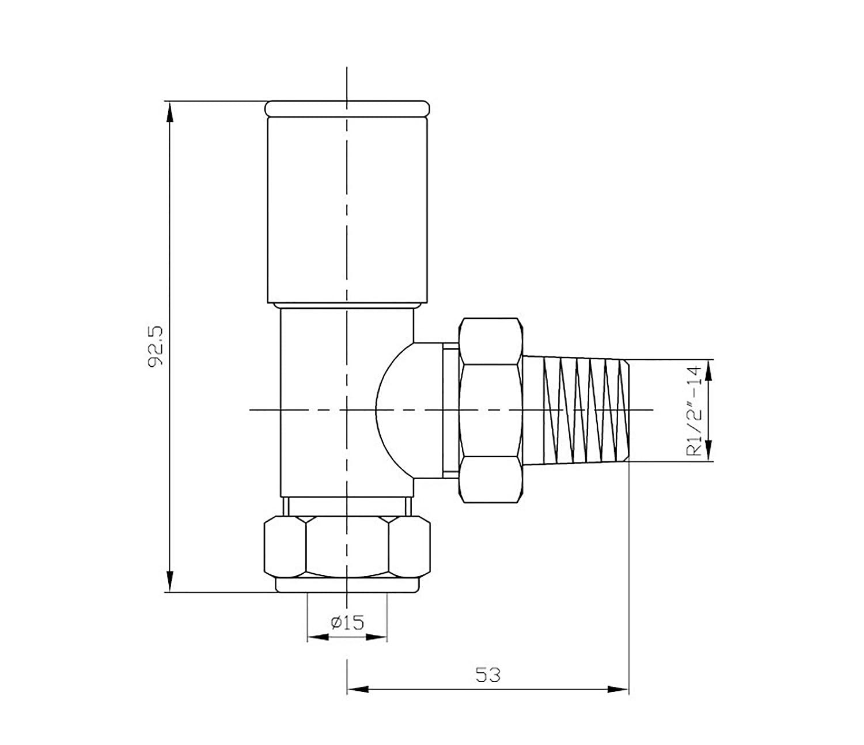 soak Valvulas cromadas de 15mm en /ángulo para radiador toallero de calefacci/ón central