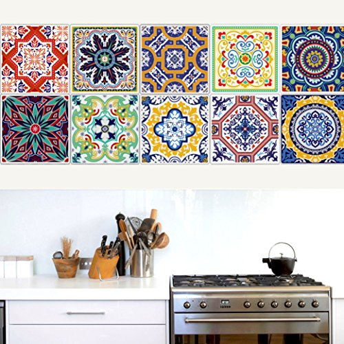 Bepont Tranditional Talavera Tile Peel And Stick Wall
