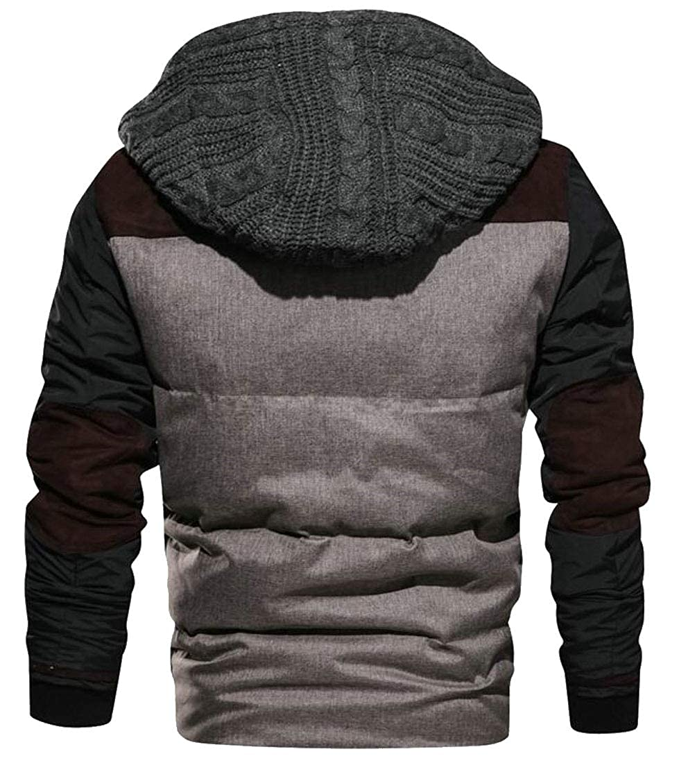 WSPLYSPJY Mens Packable Hooded Lightweight Quilted Puffer Jacket