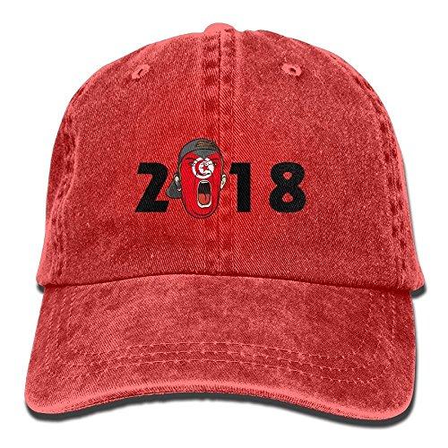 Zmacp Hombre para de Taille Unique Gorra Rojo Rosso Béisbol 41q4gr