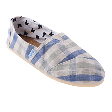 PAEZ Womens FOLKIES canvas alpargatas (5, Aero)