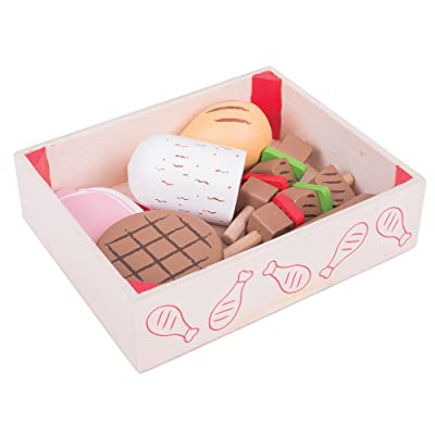 Bigjigs Toys Wooden Butchers Crate - Play Food and Role Play Toys: Toys & Games