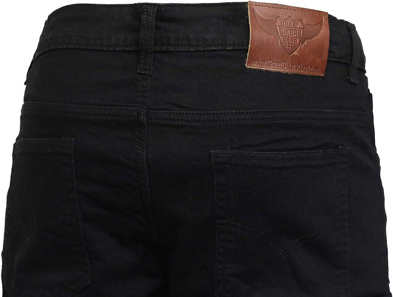 Free Armours e Passamontagna GBG Moto Motocicletta Protezione Cargo Pantaloni Jeans con Rivestimento Protettivo 6/Tasche