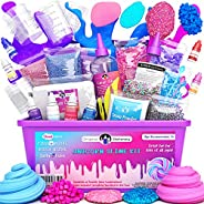 Original Stationery Unicorn Slime Kit Supplies Stuff for Girls Making Slime [Everything in One Box] Kids Can M