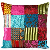 Eyes of India - 16'' Colorful Velvet Decorative Sofa Couch Pillow Cushion Throw Cover Indian Bohemian BohoCover Only
