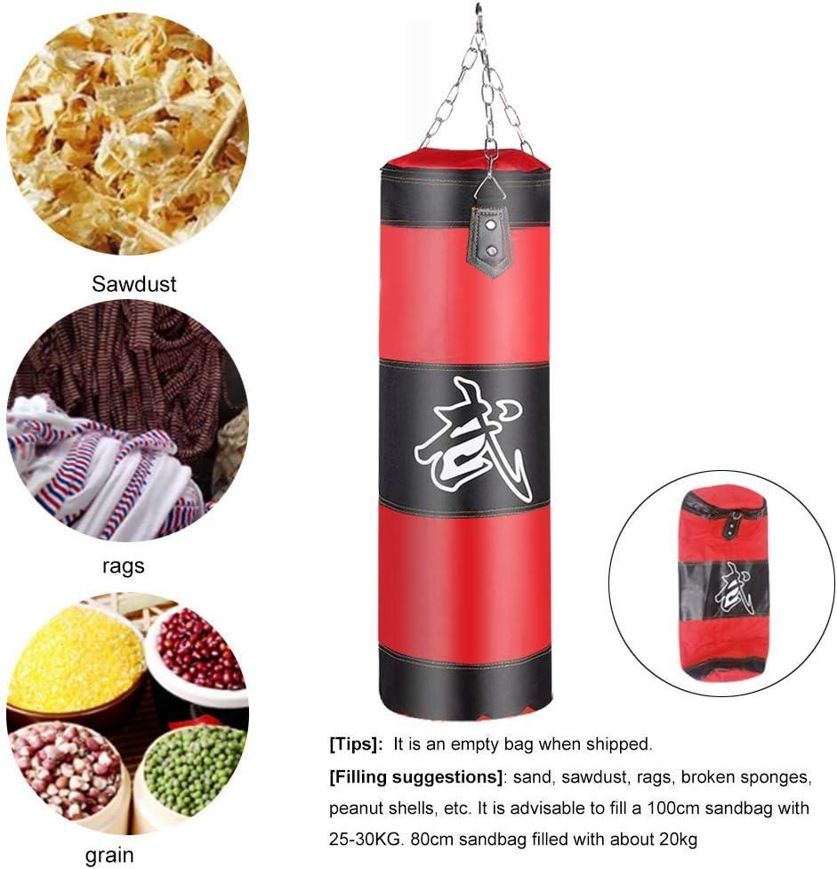 FitBoxe contiene bolsa vac/ía Kick Boxing Kit de boxeo Ducomi Saco de boxeo para colgar en el techo mu/ñequera y kit de montaje gimnasio Entrenamiento casa Muay Thai guantes