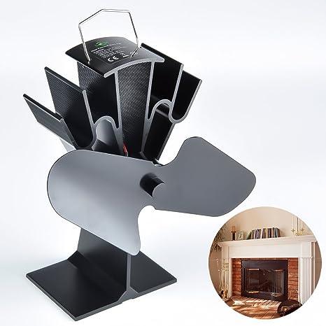 Ventilador de estufa abrazo vuelo® Gran habitación madera/quemador de registro y hornillo 2