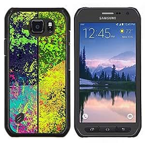 EJOOY---Cubierta de la caja de protección para la piel dura ** Samsung Galaxy S6Active Active G890A ** --Patrón de la salpicadura psicodélico
