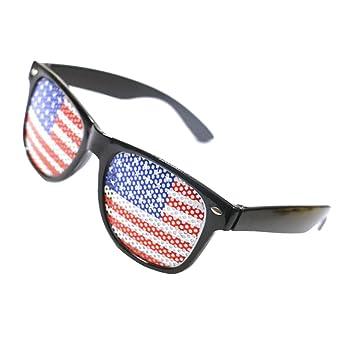 Sharplace Gafas de Sol Diseño Bandera Americana Futurista ...