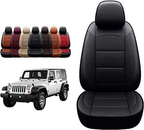 Amazon Com Oasis Auto 1997 2022 Wrangler Jk 2007 2008 2009 2010 Unlimited Sahara Sport X Custom Exact Fit Pu Leather Seat Covers Accessories Full Set 07 10 4dr Black Kitchen Dining