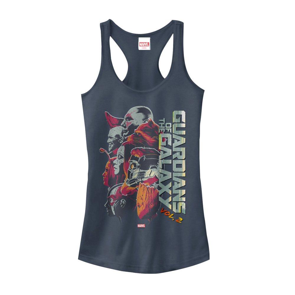 Marvel Juniors' Guardians of The Galaxy Vol 2 Team Profile Indigo Racerback Tank Top