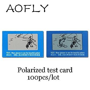En Julio De Lentes polarizadas TAC lente tarjeta de prueba para comprobar polarizador gafas de sol