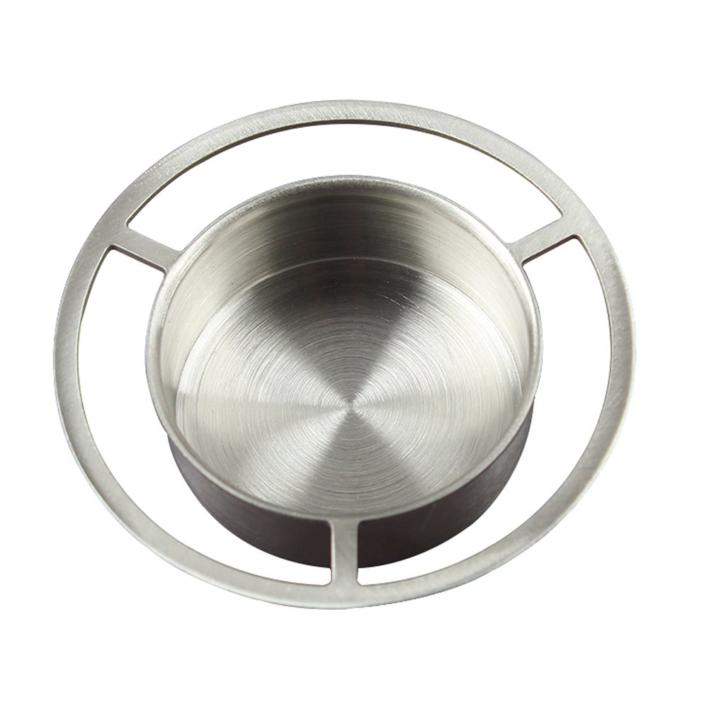 ROOS Diameter 7.5cm Stainless steel Teapot Warmer Stand Heat Resistant Tealight Candle Base and A Candle As A Gift (1)