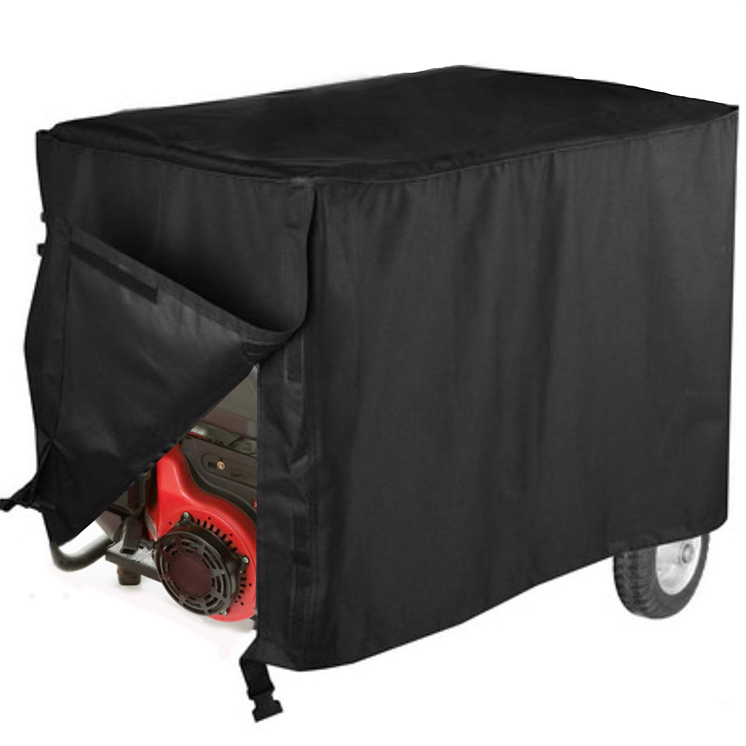 Yqbuy Universal Generator Waterproof Cover - 600D Heavy Duty Polyester Generator Cover for Most Generators, Black (32'' L x 24'' W x24 H)