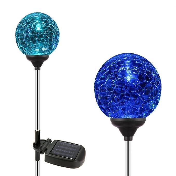 OxyLED SL75 Juego de 2 Cambio de color Lámpara LED solar bola pelota lámpara luz para jardín, terraza, Patio, Exterior