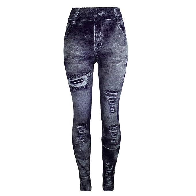 K-Youth® 2019 Calientes Pantalones de Mezclilla de imitación ...