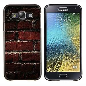 YiPhone /// Prima de resorte delgada de la cubierta del caso de Shell Armor - Modelo de la textura de ladrillo viejo - Samsung Galaxy E5 E500