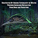 This tree tent, or portable tree house, is able to accommodate 2-4 person and their gear in absolute comfort.  This model affords an incredible amount of versatility and space for any type of camping situation.  The tent offers users a uniquely co...
