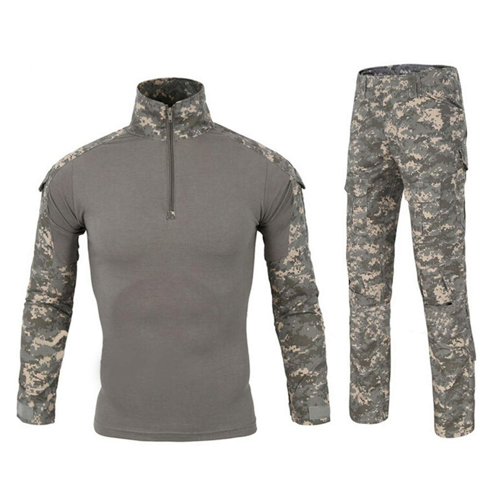 HARGLESMAN Military BDU Uniform Tactical Combat Training Suit,Gray,XL by HARGLESMAN