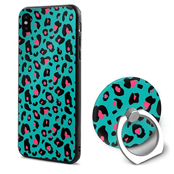 2390db05ee Amazon.com: iPhone X Case Colorful Extravagant Leopard 360 Degree ...