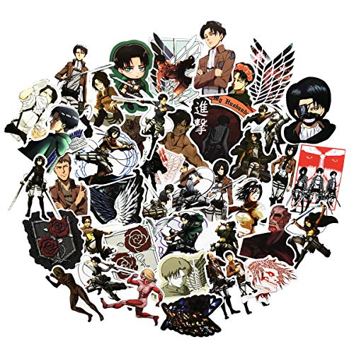 Attack on Titan Anime Stickers(42pcs) Snowboard Laptop Luggage Car Motorcycle Bicycle Fridge DIY Styling Vinyl Home Decor (1)