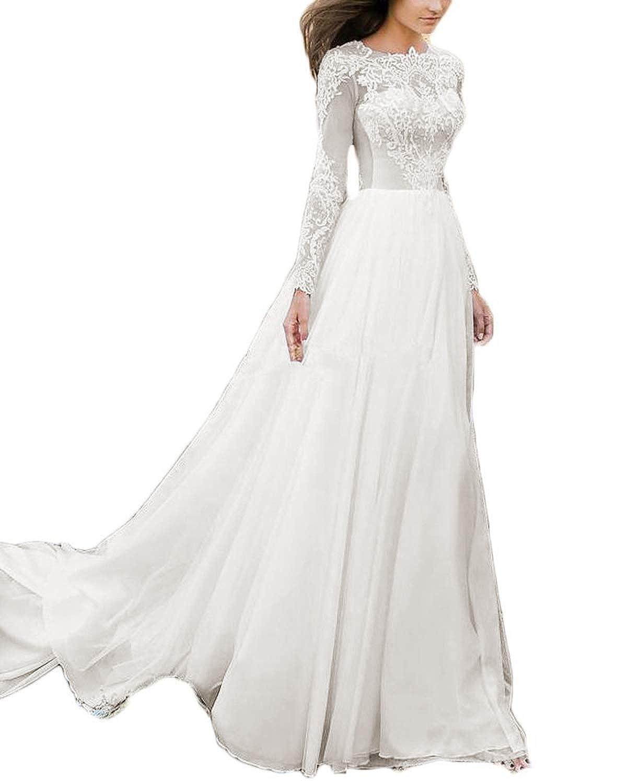 Lace Long Sleeves Boho Beach Wedding Dress 2018 Bridal Gown Sexy