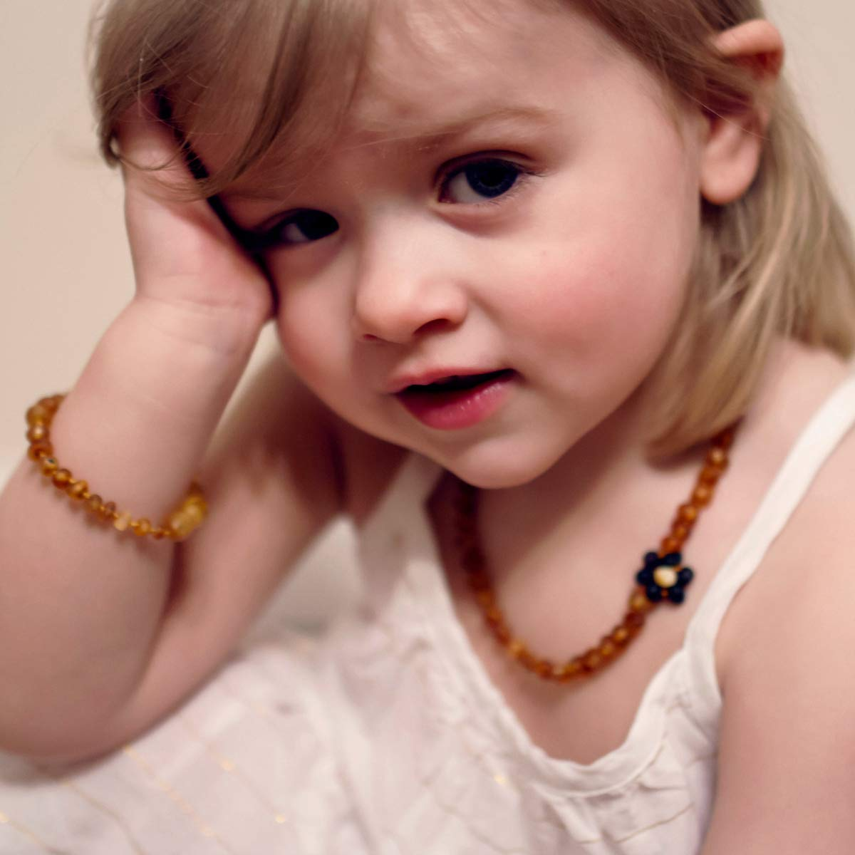 12-13 inches, Lemon Hand Crafted Baltic Amber Teething Necklace in 3 Sizes Teething Relief for Baby and Child Premium Grade Amber Teething Necklace POP CLASP