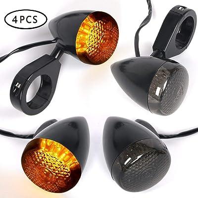 4pcs Motorcycle Indicators LED Turn Signal Lights Universal Blinker 12V for Motorcycle Motorbike: Automotive