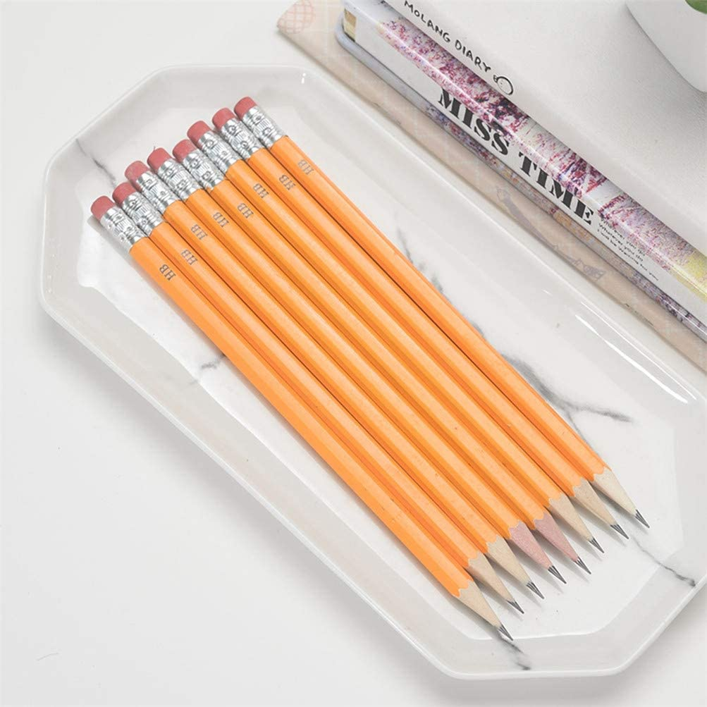 ,1PC-Random,F 5 PCS Yellow Handle Pencil Ordinary Pencil Student Writing Drawing With Eraser