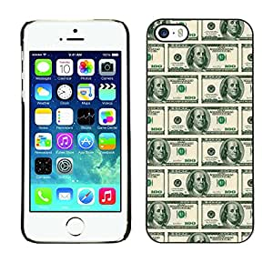 MOBMART Carcasa Funda Case Cover Armor Shell PARA Apple iPhone 5 / 5S - American Dollar Notes