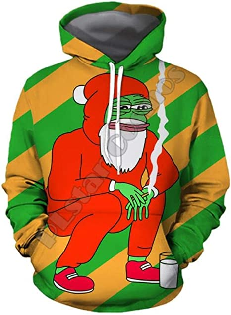 A-HXTM Sudaderas Sudaderas con Capucha De Navidad Hombres Divertido Anime Sudadera De Navidad Camisa 3D Roja Punk Rock Fiesta De Impresión De Halloween Ropa De Mujer Feliz -XXL: Amazon.es: Deportes y aire