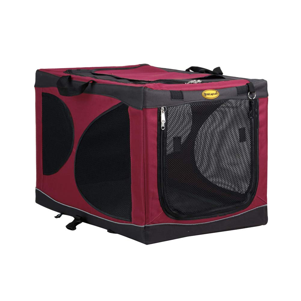 Red S Red S HiCaptain Portable Pet Crate for Indoor Outdoor Travel Deluxe Soft Oxford Kennel Fit for Small Medium Large Dog & Cat (S, Red)