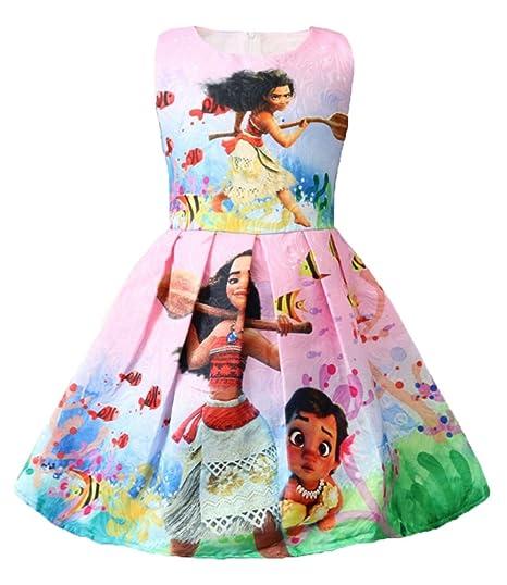 Wnqy Moana Vestido De Princesa Con Dibujos Animados Para