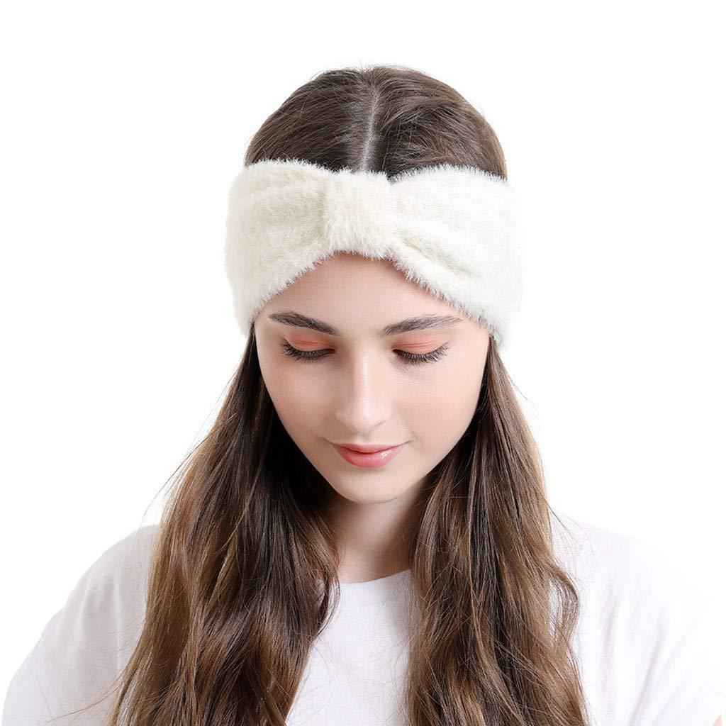 LADIES FAUX FUR HEADBAND SILVER HEAD BAND WINTER SKI GIRLS WOMENS HAT EAR WARMER