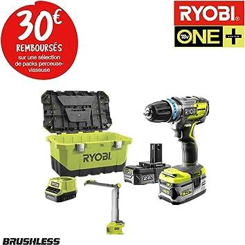 RYOBI R18PDBL - Pack de herramientas sin escobillas para taladro ...