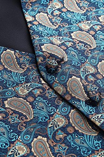 Brown Taschino Gilet Da Jacquard Classico Fazzoletto Paisley Uomo amp; Cravatta E Hisdern Floral Aqua w5vFqRxOO