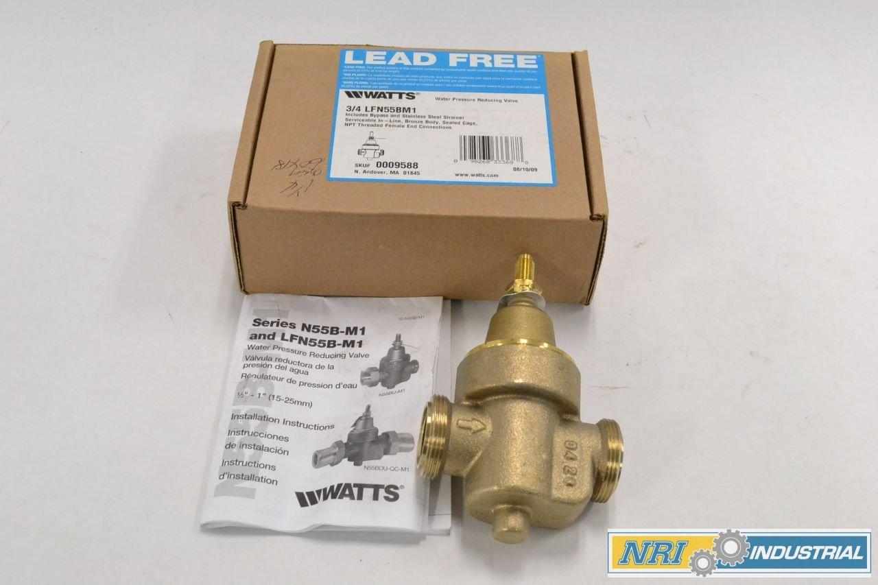 New Watts Lfn55bm1 Water 50psi Bronze 34 In Npt Pressure Reducing