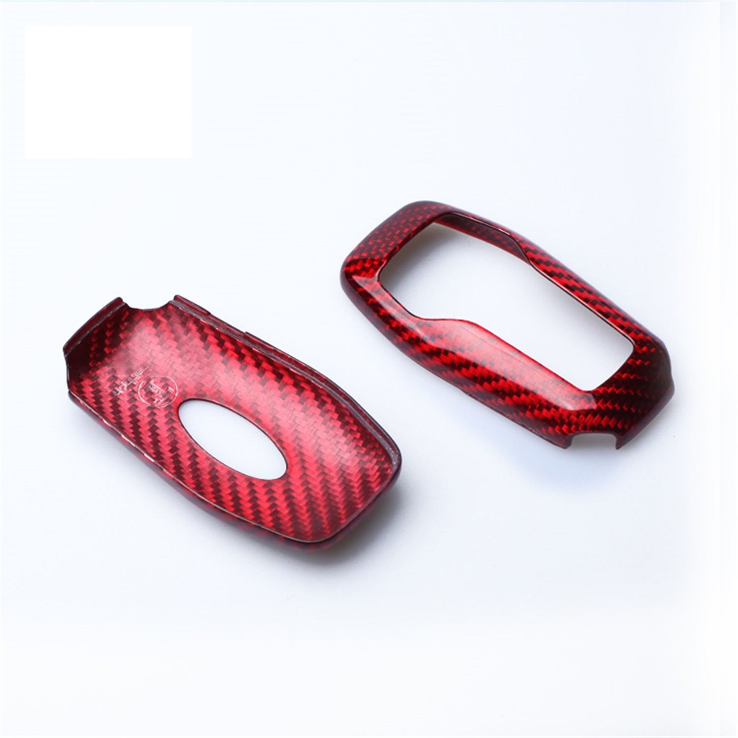 100/% Carbon Fiber Case For Ford Mustang Key Fob Mens Car Key Fob Case Womens Fob Cover Red Genuine Carbon Fiber Cover For Ford Mustang 5 Buttons Smart Keyless Fob Remote Key