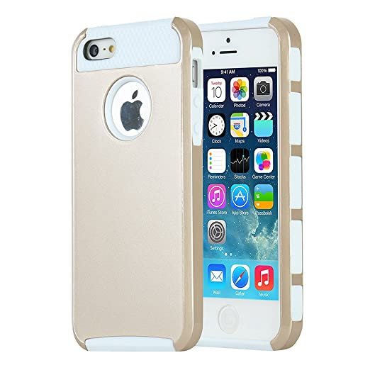 16 opinioni per iPhone 5s Custodia, iPhone 5 Custodia, MTRONX™ Elegante Antiurto Ibrida Duro