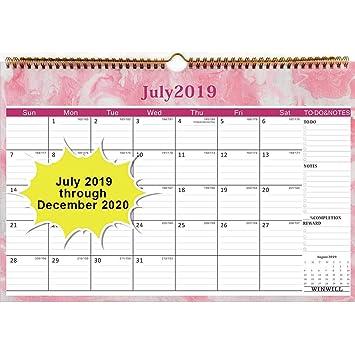 Amazon.com: Calendario de pared 2019-2020, año académico ...