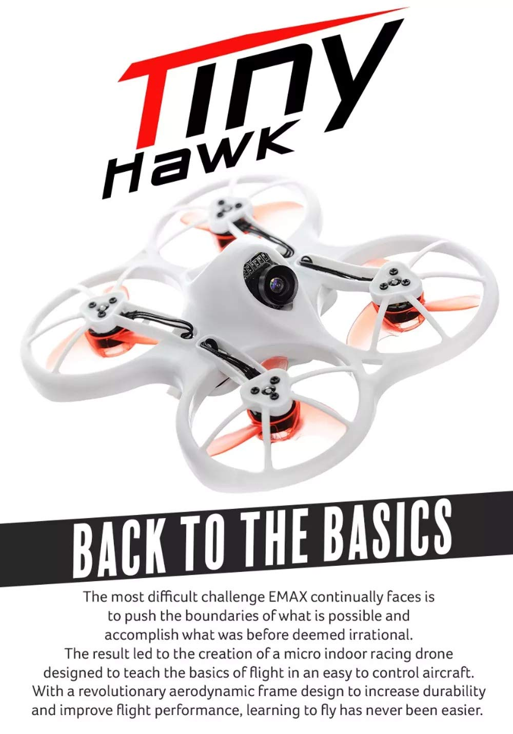 XuBa EM/AX Tinyhawk Indoor FPV Racing Drone BNF RTF F4 4in1 3A ...