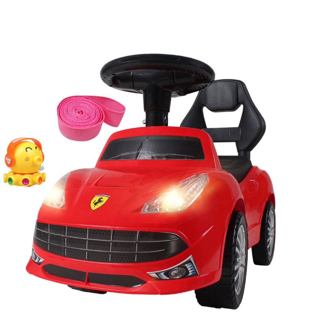 ventas en linea Xiao ping Ride en Cuatro con con con Asas Easy Grip, Ruedas Incluidas y sin Pedales para Aprender a Caminar para Bebés, Niños Pequeños, Niños y Niñas por (Color : Red)  alta calidad general
