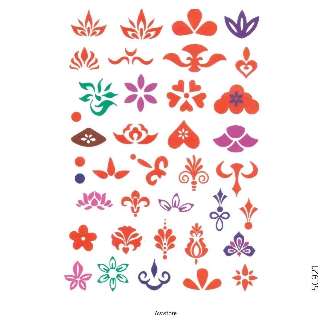 Avastore - Tatuaje temporal para mujer con flor de loto y lirio y ...